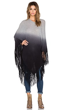 360 Sweater Calvin Poncho in Mid Heather Grey & Charcoal