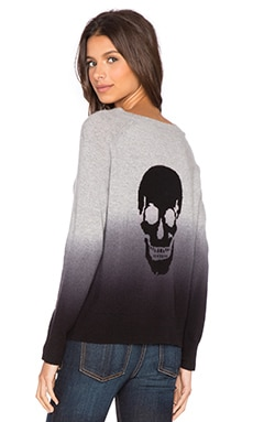 360 Sweater Dip Sweater in Mid Heather Grey & Charcoal