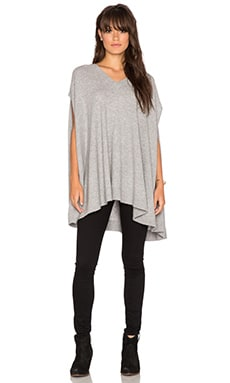 360 Sweater Luisa Cape in Mid Heather Grey