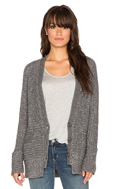 360 Sweater Janne Cardigan in Graphite & Chalk