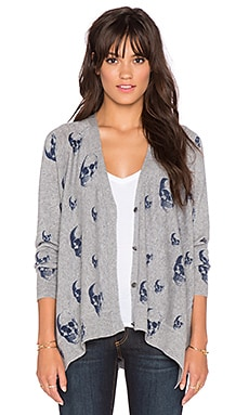360 Sweater Chaos Cardigan in Mid Heather Grey & Midnight