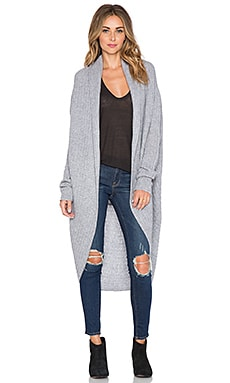 360 Sweater Josephin Cardigan in Mid Heather Grey