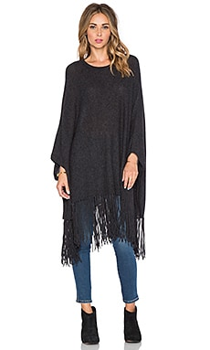 360 Sweater Maree Poncho in Charcoal