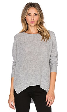 360 Sweater Dewey Sweater in Mid Heather Grey