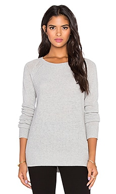 Orchard Crew Neck Sweater en Gris Clair Chiné