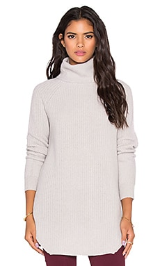 360 Sweater Chrystie Turtleneck Sweater in Sand