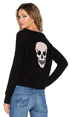 360 Sweater Gambino Skull Sweater in Black & Cameo Skull