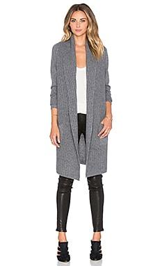 360 Sweater Barrow Cardigan in Dark Heather Grey