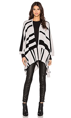 360 Sweater Waverly Cardigan in Sand & Black Stripes