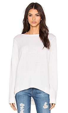360 Sweater Delancy Crew Neck Sweater in Alabaster