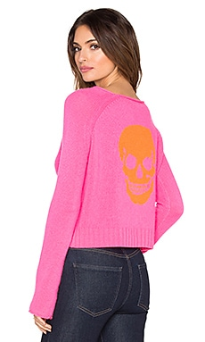 360 Sweater Riffraff Skull Sweater in Dayglo & Laser Luther