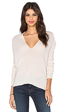 Valeria Plunge Neck Sweater in Cherry Blossom