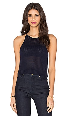 Maldive Sweater Tank in Navy