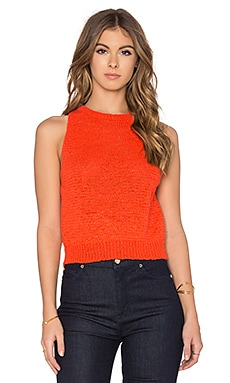 Isla Sleeveless Sweater in Orange