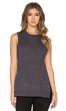 Ilona Sleeveless Sweater en Charcoal