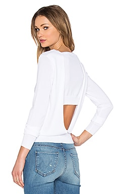 360 Sweater Ronna V Back Sweater in White
