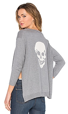 Attis Skull Sweater in Thunder & Chalk Skull