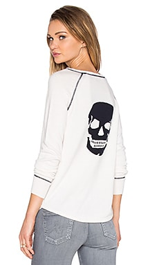 360 Sweater Eurus Skull Sweater in Chalk & Navy