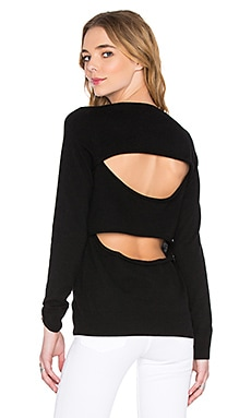 360 Sweater Kiki Open Back Sweater in Black