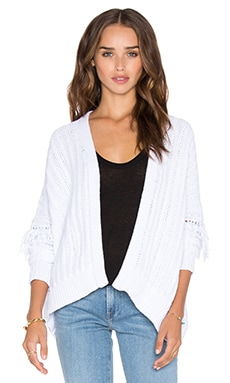 360 Sweater Brett Cardigan in White