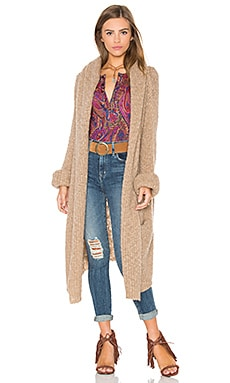 x Rocky Barnes Stella Hooded Cardigan in Camel