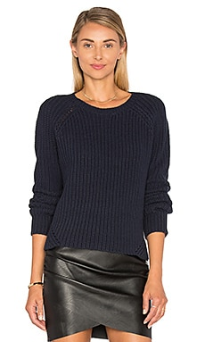 Shelton Cashmere Crew Neck Sweater in Cosmos
