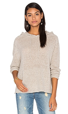 Anabel Cashmere Hooded Sweater en Noisette