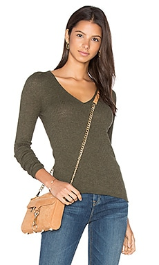 Linde V Neck Sweater en Loden