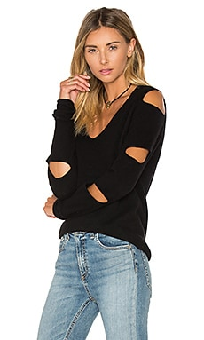 Tyrone Cut Out Sweater en Noir
