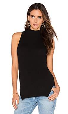 Logan Cashmere Sleeveless Sweater in Black