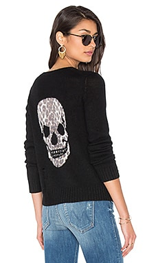 Raj Cashmere Skull Sweater in Schwarz
