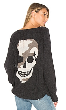 Lena Sweater in Cinder & Camo Skull
