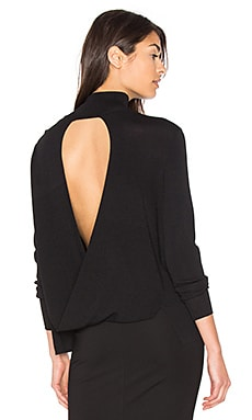 Milana Open Back Sweater en Noir