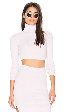 x Hanna Beth Bria Crop Sweater in Powder Puff