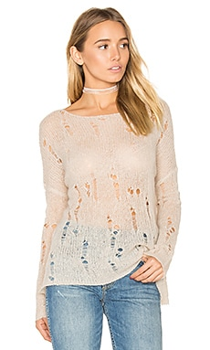 Nohemi Distressed Sweater in Champagne