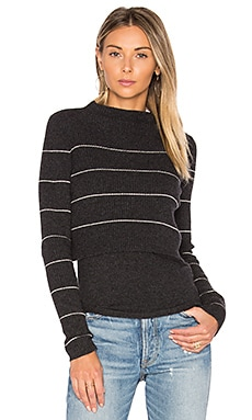 Isa Stripe Sweater in Cinder & Adobe