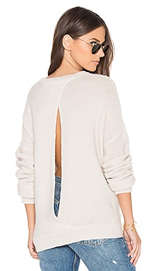 Greer Open Back Sweater in Adobe