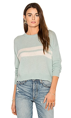 Hana Cashmere Sweater in Aloe & Chalk