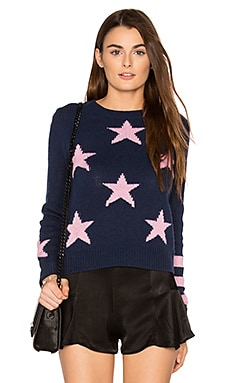 Embrey Cashmere Sweater in Mariner & Peony Stars