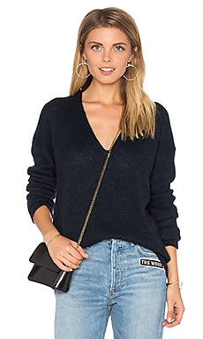 Ira V Neck Sweater in Petrol
