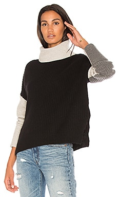 Dree Colorblock Turtleneck Sweater