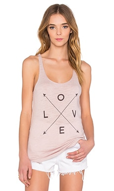 Love Sleeveless Tank en Mallow & Charcoal Print