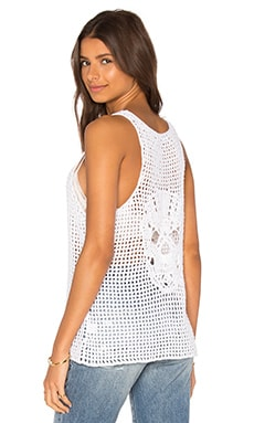 360 Sweater Heracles Skull Tank in White