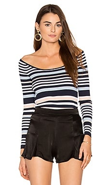 Padma Top in Navy & Multi Stripe