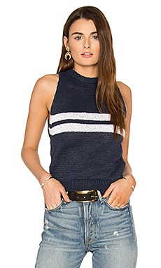Francis Tank in Navy & White