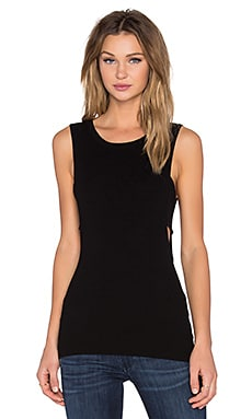 360 Sweater Bixby Sweater Tank in Black