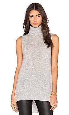 360 Sweater Morton Turtleneck Sweater in Light Heather Grey