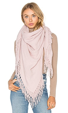 Georgie Cashmere Fringe Scarf in Rose