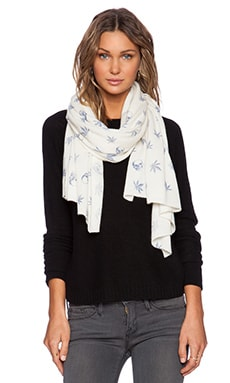 360 Sweater Herb Scarf in Ivory & Denim