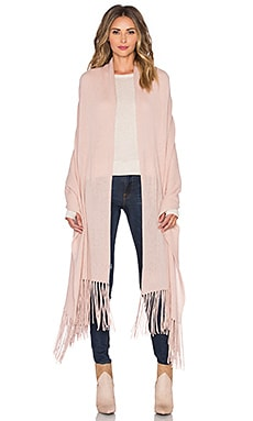 360 Sweater Linus Fringe Travel Scarf in Cameo
